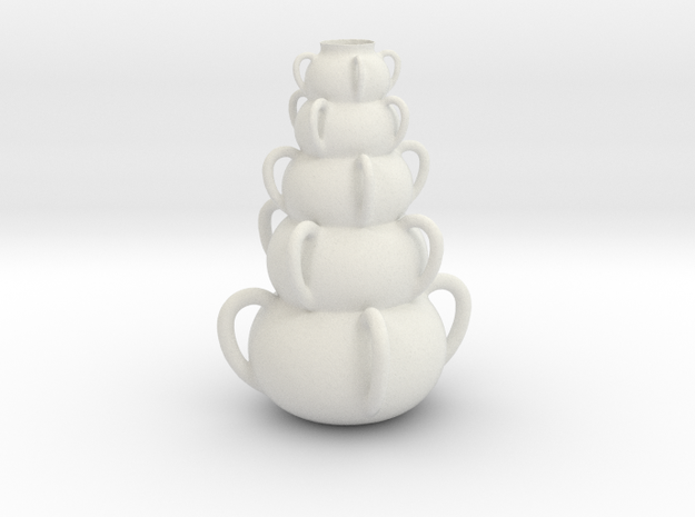 Vase 1124tt in White Natural Versatile Plastic