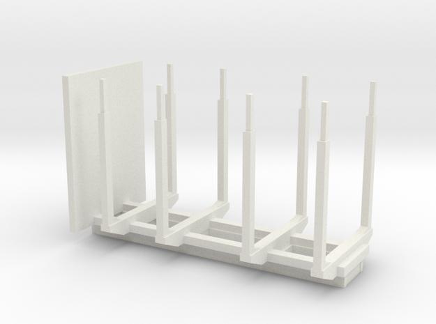 boom transport opbouw / holz transport aufbau in White Natural Versatile Plastic