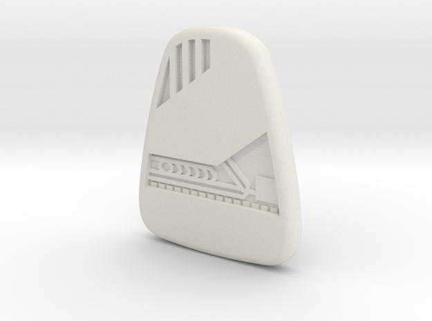 Star Trek Voyager Mobile Emitter in White Natural Versatile Plastic