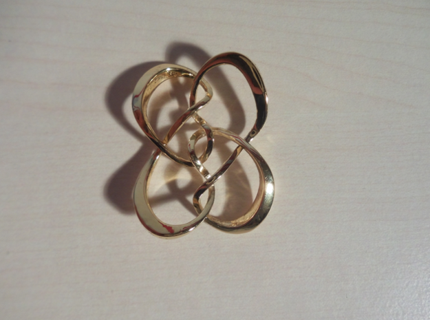 Symmetrical knot (Square) in 14k Gold Plated Brass: Extra Small