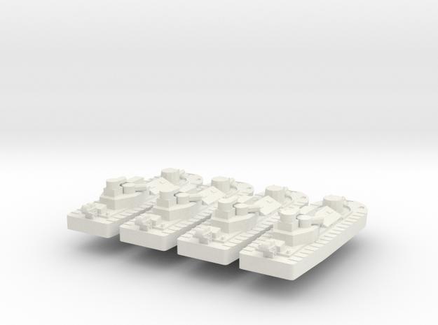 1/700 Vietnam CCB x 4 off in White Natural Versatile Plastic