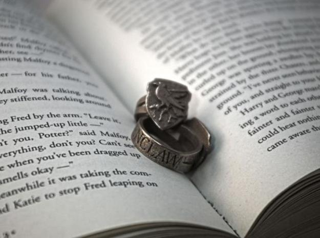 Ravenclaw Ring Size 6 in Polished Bronzed Silver Steel
