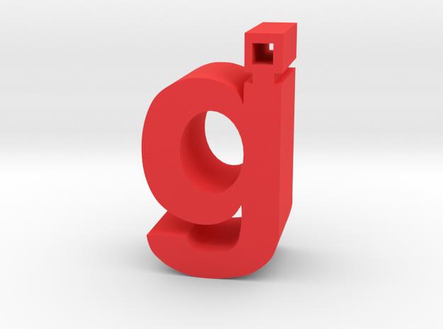 Glassjaw in Red Processed Versatile Plastic