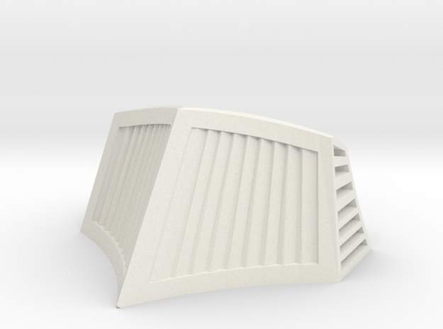 OO / HO Snowplough Type 1 Size 4 in White Natural Versatile Plastic