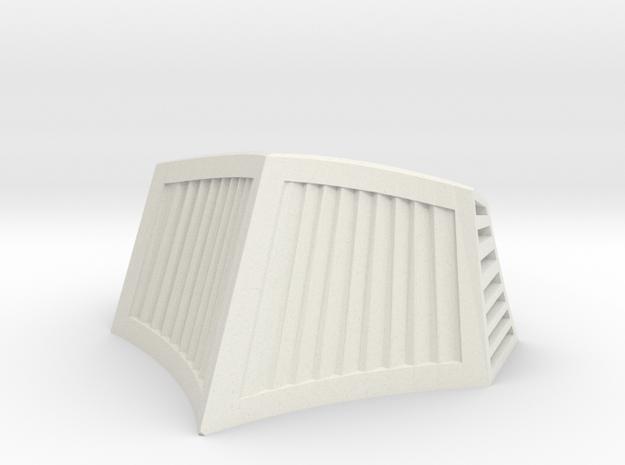 OO / HO Snowplough Type 1 Size 6 in White Natural Versatile Plastic