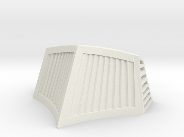OO / HO Snowplough Type 1 Size 2 in White Natural Versatile Plastic