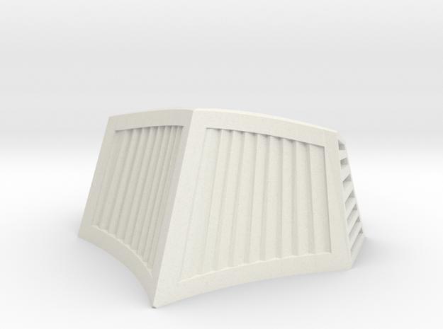 OO / HO Snowplough Type 1 Size 3 in White Natural Versatile Plastic