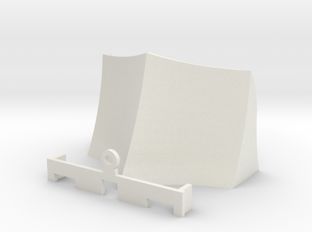OO / HO Snowplough Type 3 Size 1 in White Natural Versatile Plastic