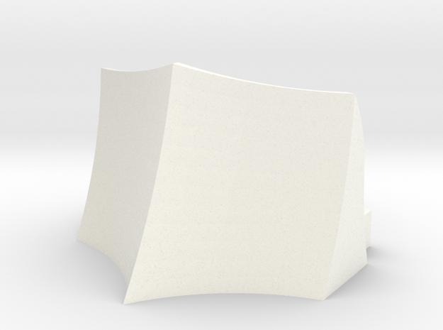 OO / HO Snowplough Type 3 Size 2 in White Processed Versatile Plastic