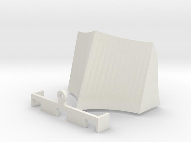 OO / HO Snowplough Type 2 Size 1 in White Natural Versatile Plastic