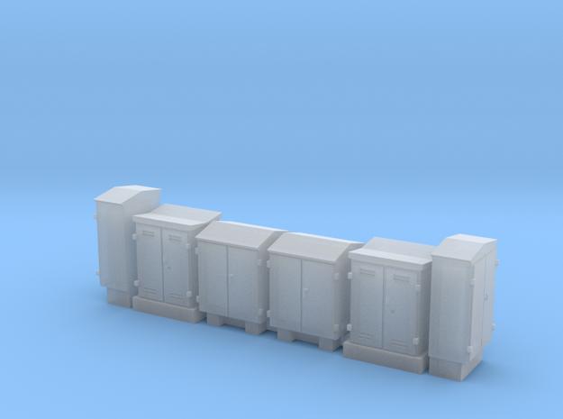 NS schakelkasten N scale 6 stuks in Smoothest Fine Detail Plastic