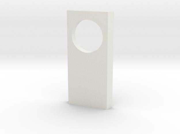 shkr023 - Teil 23 Seitenwand mit Fensterloch rund in White Natural Versatile Plastic