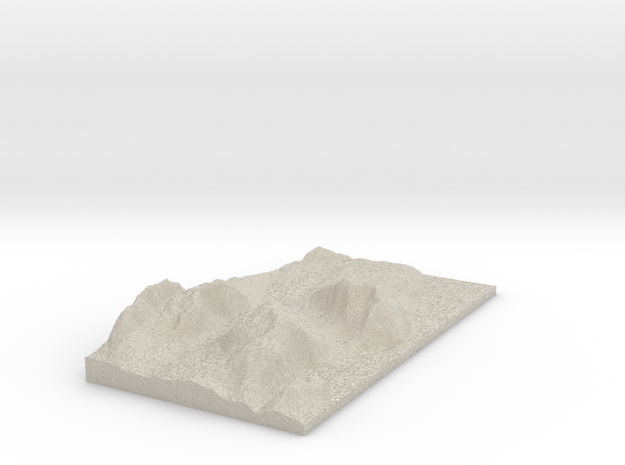 Model of Acadia Mountain in Natural Sandstone