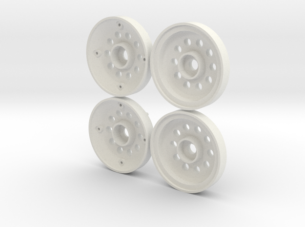 Marui Hunter/Galaxy Front Wheels in White Strong & Flexible