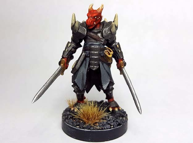 Dragonborn w/ Longswords in Smooth Fine Detail Plastic
