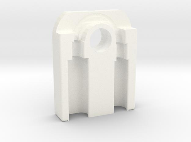 Lightning to Headphone 3.5mm jack adapter keychain in White Processed Versatile Plastic