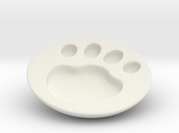 Cat soy sauce dish A3 in White Natural Versatile Plastic: Small