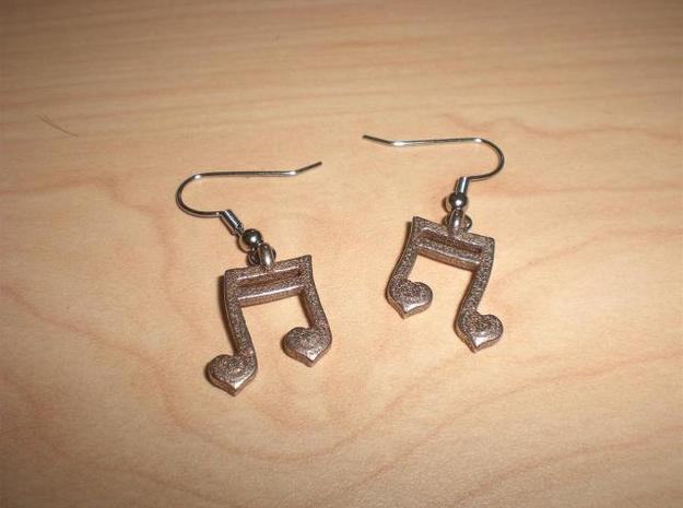 Musical Heart Earrings in Stainless Steel