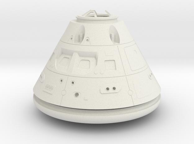 Orion Crew Module (CM) No Tiles 1:24 in White Natural Versatile Plastic