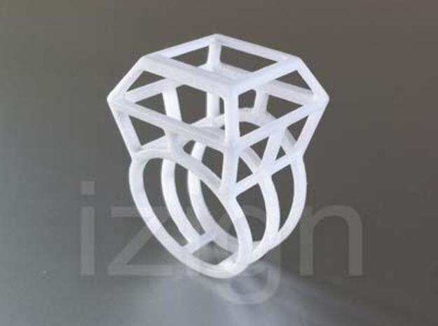 ring06 18 3d printed White Strong & Flexible Polished