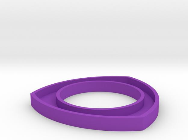 171124 Pup Triangle Bangle Meduim in Purple Processed Versatile Plastic