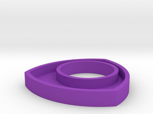 171124 Pup Triangle Pendant in Purple Processed Versatile Plastic