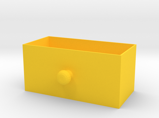 box for elecrical components 2 in Yellow Strong & Flexible Polished