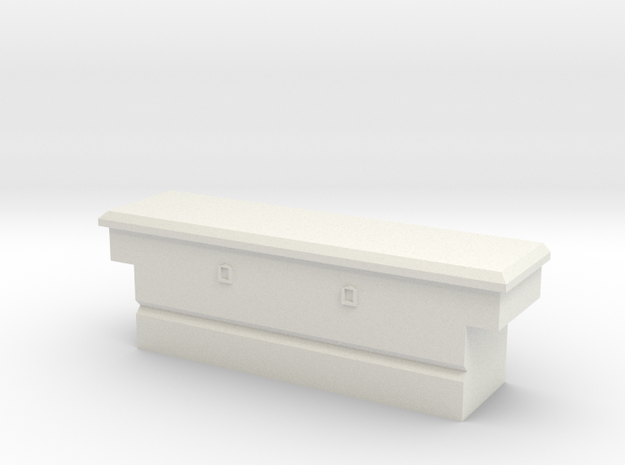 1/64 Cross bed tool box in White Natural Versatile Plastic