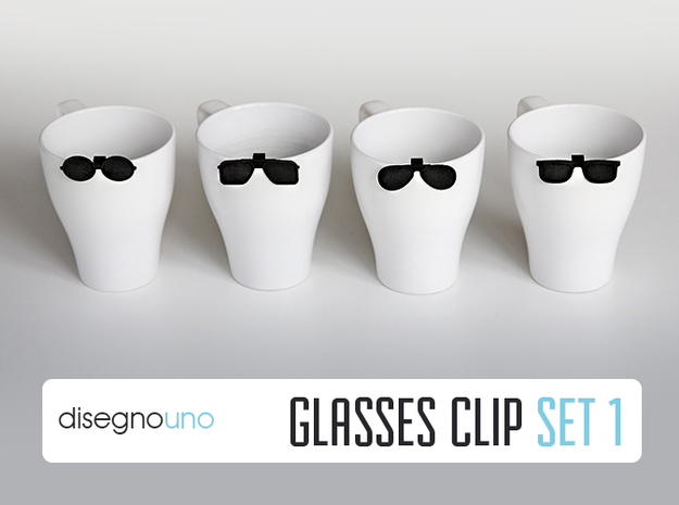 Party Accessories | Glasses (4 pz) in Black Natural Versatile Plastic