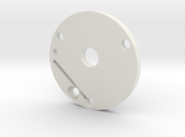 Graflex plate in White Natural Versatile Plastic