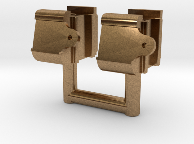 Mogul - Tender Truck Journal Box .625 plus 1% in Natural Brass