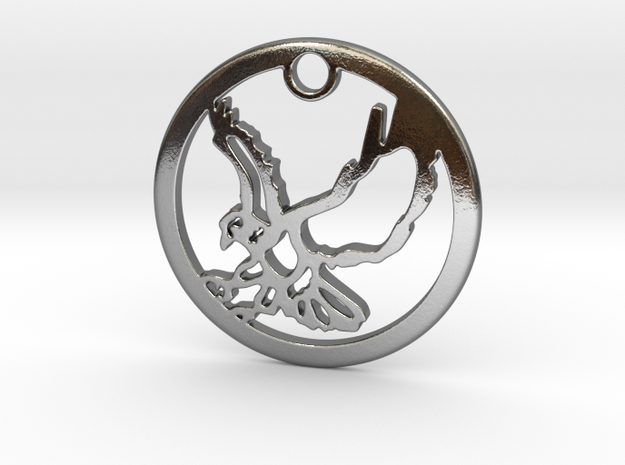 Eagle Pendant   in Polished Silver