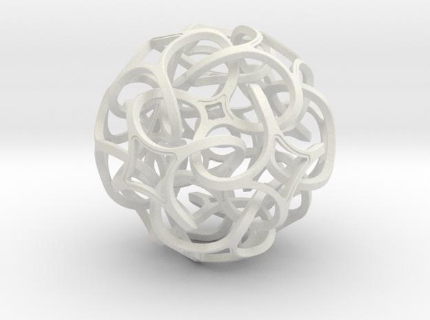 RHOMBOCUBE_75 in White Natural Versatile Plastic