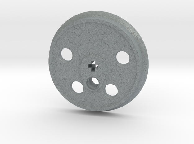 XXL Disc Driver - Large Counterweight, No Groove in Polished Metallic Plastic