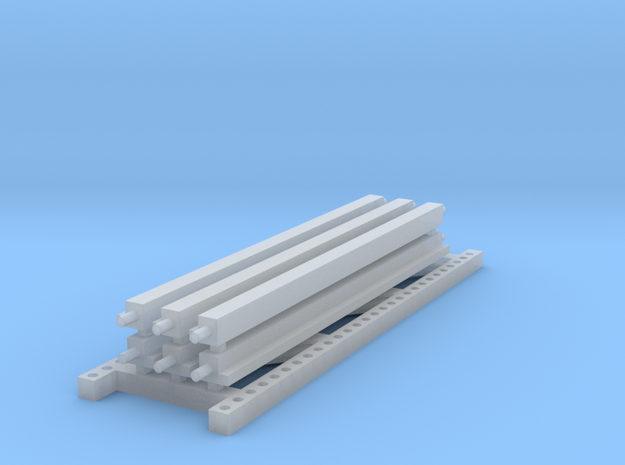 1/64 3 High 10ft Pallet Racking Extension in Smooth Fine Detail Plastic
