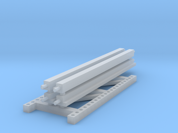 1/64 2 High 10ft Pallet Rack Extension in Smooth Fine Detail Plastic