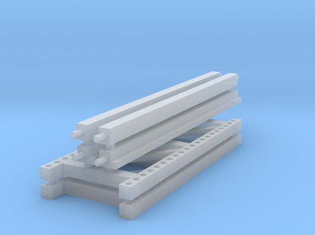 1/64 2 High 10ft Pallet Racking  in Smooth Fine Detail Plastic