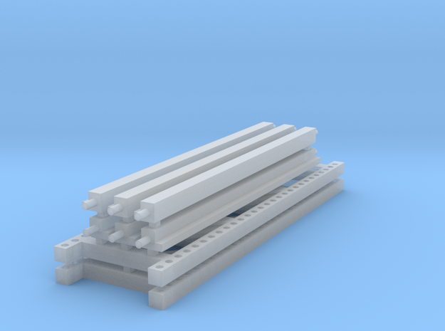 1/64 3 High 10ft Pallet Rack  in Smooth Fine Detail Plastic
