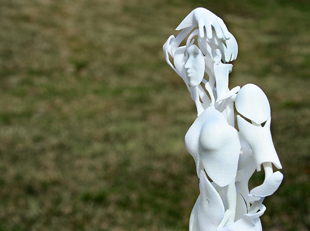 Contrapposto in White Natural Versatile Plastic