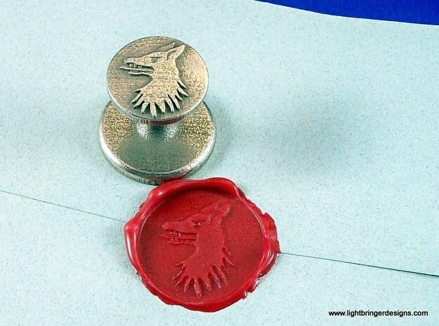 "Custom Wax Seal 1"" 3d printed Roberson Wolf"