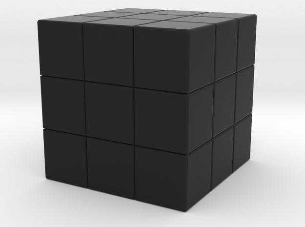 CubeShellOne in Black Natural Versatile Plastic