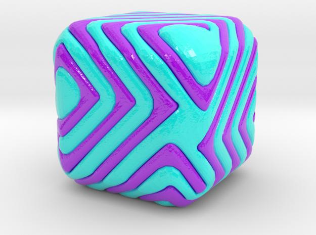 cube1 in Glossy Full Color Sandstone