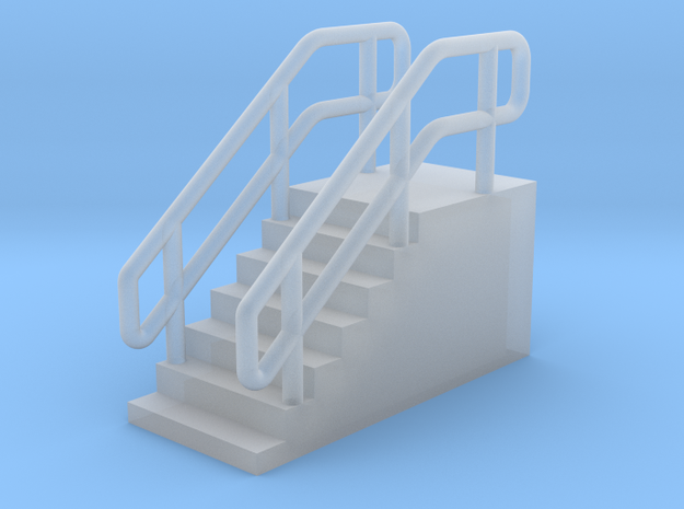 N Scale Loading Dock Stairs 8.4 in Smooth Fine Detail Plastic