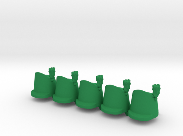 5 x British Shako Wellington  in Green Processed Versatile Plastic