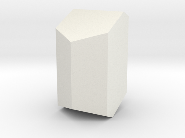 Orthoclase, 25 mm in White Natural Versatile Plastic