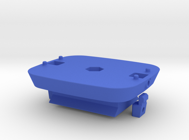 Locking Kinect mount with ARCA baseplate in Blue Strong & Flexible Polished