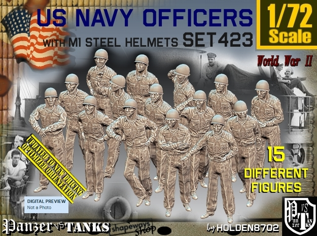 1/72 USN Helmet Officers Set423