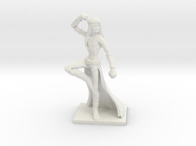 Fantasy Figures 11 - Monk in White Natural Versatile Plastic