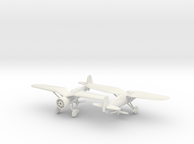 1/144 PZL P24  x2 in White Natural Versatile Plastic