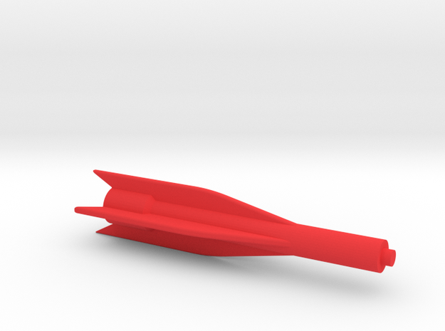 Captain Action Silver Streak -Missile Body in Red Strong & Flexible Polished